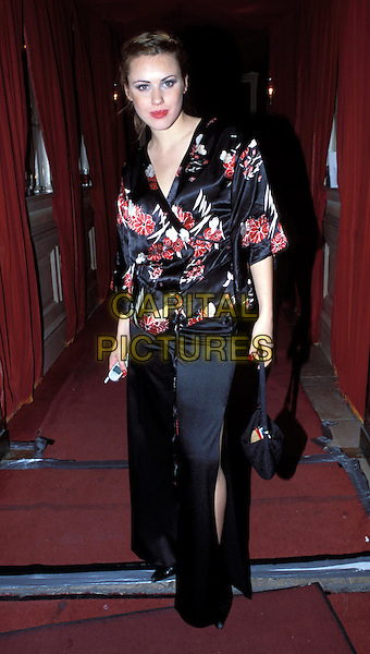 KELLY WENHAM.Leaving the Inside Soap Awards at The Mayfair Club.kimono, japanese style top.Ref: AH.sales@capitalpictures.com.www.capitalpictures.com.©Capital Pictures.