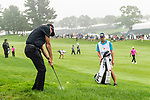 CROMWELL, CT. 20 June 2019-062019 - PGA Tour player Bubba Watson hits from the rough on the first hole, during the first round of the Travelers Championship at TPC River Highlands in Cromwell on Thursday. Bill Shettle Republican-American