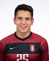 Stanford, Ca - Tuesday, August 13, 2019: Stanford Men's Soccer Portraits 2019.