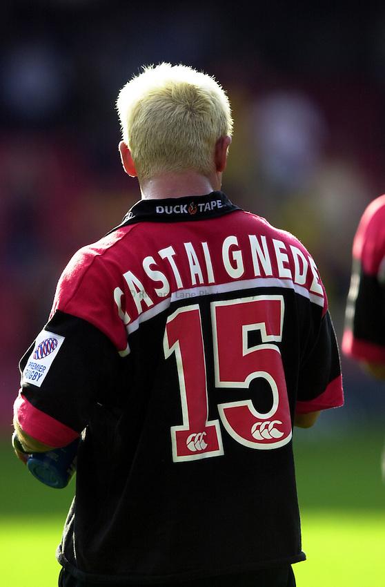 Photo: Richard Lane.Saracens v Leicester. Zurich Premiership. 10/9/2000.Thomas Castaignede. ææææ