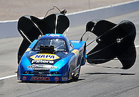 Mar 30, 2014; Las Vegas, NV, USA; NHRA top alcohol funny car driver John Lombardo Jr during the Summitracing.com Nationals at The Strip at Las Vegas Motor Speedway. Mandatory Credit: Mark J. Rebilas-