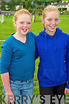 Cli?odhna O'Shea and Lisa Mangan at the Killorglin Pony Show on Sunday.