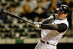 8 September 2006: Brad Hawpe, right fielder for the Colorado Rockies, in action against the Washington Nationals. The Rockies defeated the Nationals 10-5 in a rain-delayed game at Coors Field in Denver, Colorado. ..Mandatory Photo Credit: Ed Wolfstein..