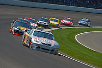 25-27 July 2008, Indianapolis, Indiana USA.A.J. Allmendinger leads a pack..©F.Peirce Williams 2008, USA.F. Peirce Williams.photography