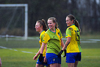 Action from the Mainland Women's Premier League football match between Halswell United and Cashmere Technical at Halswell Domain in Christchurch, New Zealand on Saturday, 6 July 2019. Photo: Dave Lintott / lintottphoto.co.nz