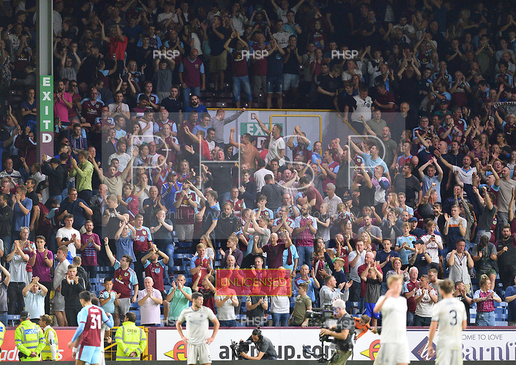 02/08/2018 Europa League Second Qualifying Round 2nd leg Burnley v Aberdeen<br /> <br /> Fans celebrate victory over Aberdeen