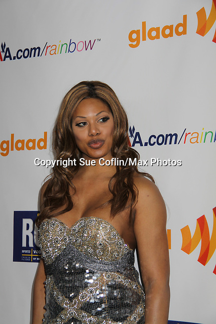 Actress Laverne Cox at the 22nd Annual Glaad Media Awards honoring Ricky Martin (GH) & Russell Simmons on March 19, 2011 at the New York Marriott Marquis, New York City, New York. (Photo by Sue Coflin/Max Photos)