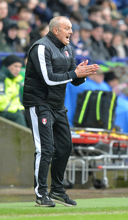 Rotherham United's Manager Neil Redfearn<br /> <br /> Photographer Dave Howarth/CameraSport<br /> <br /> Football - The Football League Sky Bet Championship - Bolton Wanderers v Rotherham United - Saturday 6th February 2016 - Macron Stadium - Bolton <br /> <br /> &copy; CameraSport - 43 Linden Ave. Countesthorpe. Leicester. England. LE8 5PG - Tel: +44 (0) 116 277 4147 - admin@camerasport.com - www.camerasport.com