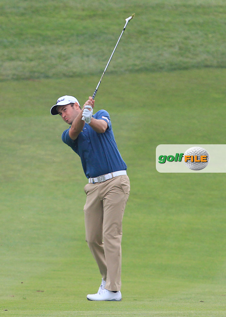 Daniel Brooks (ENG) on the 12th fairway during Round 1 of the Open de Espana  in Club de Golf el Prat, Barcelona on Thursday 14th May 2015.<br /> Picture:  Thos Caffrey / www.golffile.ie