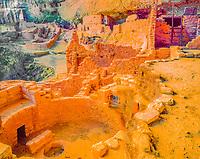 LOng House, Mesa Verde National Park, Colorado, Wetherhill Mesa HUge Anasazu cliff dwelling