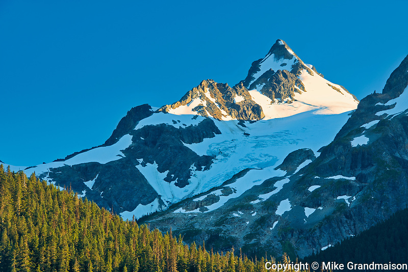 Mountain peak seen from Lower Joffre Lake<br />Joffre Lakes Provincial Park<br />British Columbia<br />Canada
