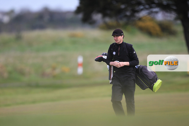 Tom Murray (ENG) on the 13th fairway during Round 1 of the Flogas Irish Amateur Open Championship at Royal Dublin on Thursday 5th May 2016.<br /> Picture:  Thos Caffrey / www.golffile.ie
