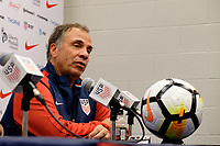 East Hartford, CT - Saturday July 01, 2017: Bruce Arena during an international friendly match between the men's national teams of the United States (USA) and Ghana (GHA) at Pratt & Whitney Stadium at Rentschler Field.