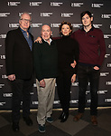 Tracy Letts, Jack O'Brien, Annette Bening and Benjamin Walker attend the 'All My Sons' cast photo call at the American Airlines Theatre  on March 8, 2019 in New York City.