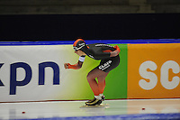 SCHAATSEN: HEERENVEEN; 11-10-2014, IJstadion Thialf, KNSB Trainingswedstrijd, Evert Hoolwerf, ©foto Martin de Jong