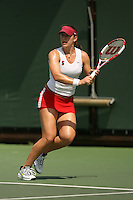 11 May 2007: Lindsay Burdette during the first round of the NCAA women's tennis tournament at the Taube Family Tennis Stadium in Stanford, CA.