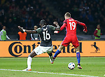 England's Jamie Vardy scoring his sides second goal during the International Friendly match at Olympiastadion.  Photo credit should read: David Klein/Sportimage