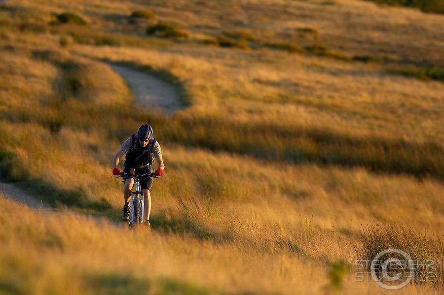 ..Orange Bicycles  , Ullswater , Cumbria , Lake District . near High Street..September 2007..pic copyright Steve Behr / Stockfile