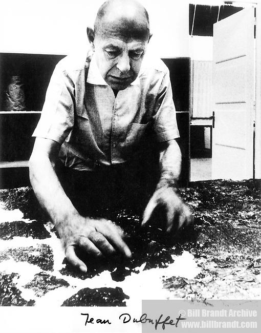 Jean Dubuffet in his studio