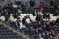 Swansea City fans look on during the Capital One Cup match between Hull City and Swansea City played at the Kingston Communications Stadium, Hull