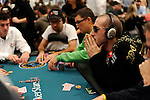 "PS Team Pros Daniel Negreanu and Bertrand ""ElkY"" Grospellier are seated at the same table on Day 2."