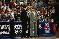 18 March 2006: Head coach Tara Vanderveer during Stanford's 72-45 win over Southeast Missouri State in the first round of the NCAA Women's Basketball championships at the Pepsi Center in Denver, CO.