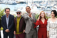 PAOLO SORRENTINO, PEDRO ALMODOVAR, WILL SMITH, JESSICA CHASTAIN AND FAN BINGBING - PHOTOCALL OF JURY AT THE 70TH FESTIVAL OF CANNES 2017