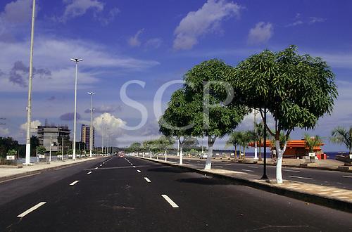 Manaus, Amazonas State, Brazil. Ponta Negra river front leisure area.