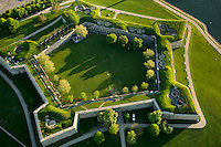 aerial view, Castle Island, Fort Independence, Boston, MA