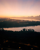 SINGAPORE, Asia, high angle view of a city at sunrise