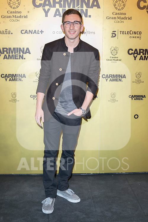 "Spanish actor David Castillo attend the Premiere of the movie ""Carmina y Amen"" at the Callao Cinema in Madrid, Spain. April 28, 2014. (ALTERPHOTOS/Carlos Dafonte)"