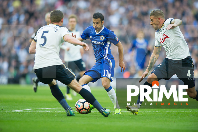 Chelsea's Pedro during the FA Cup Semi Final match between Chelsea and Tottenham Hotspur at Wembley Stadium, London, England on 22 April 2017. Photo by Andrew Aleksiejczuk / PRiME Media Images.