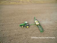 63801-10009 Farmer planting corn-aerial Marion Co. IL