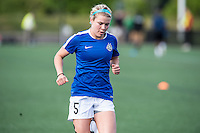 Allston, MA - Sunday, May 22, 2016: FC Kansas City defender Alex Arlitt (5) during warmups before a regular season National Women's Soccer League (NWSL) match at Jordan Field.