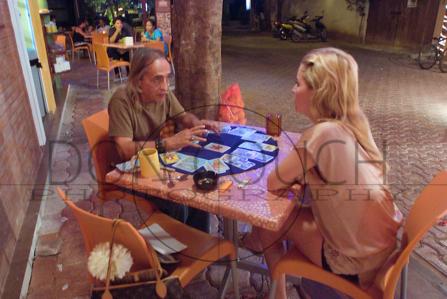 A tarot reader in Playa Del Carmen, Mexico