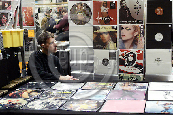 UTRECHT - NETHERLANDS - 14 NOVEMBER 2004 -- The 22nd Mega Record and CD fair in the Jaarbeurs of Utrecht.-- This year 591 record, CD, Music - DVD, poster sellers gathered in the hall 12  of the Jaarbeurs to the delight of music lovers. -- PHOTO:  EUP-IMAGES / JUHA ROININEN