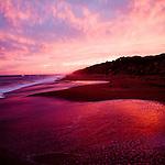 An Australian sunset on a beach
