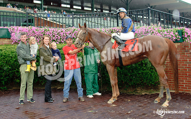 Atherton winning on Owners Day at Delaware Park on 9/13/14