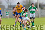 in Action Na Gaeil's Kieran O'Donovan and Beaufort's Frances Courtney at the  Senior Football League Div 3 Na Gaeil v Beaufort at Killeen Na Gaeil GAA Ground on Saturday