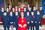 Faha NS pupils with Bishop Ray Browne at their Confirmation in Milltown on Thursday front row: Joe Clifford, Anne Lee mahony, Cathal Whelton, Colin O'Sullivan, Jack Walsh, Joesph Galvin. Back row: Ava Lynch, Shona Murphy, Kate Spillane, Tualla Belle-Courtney, patrick O'Connor, Joshua O'Sullivan, Jack O'Leary. Back row: Mr Jerry Fitzgerald Principal Fr Gerard O'Leary, Deacon Conor Bradley and Mr Niall McCann