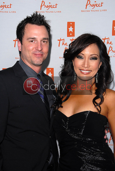 John Larusso and Carrie Ann Inaba<br /> at Trevor Live, benefitting the Trevor Project, Hollywood Palladium, Hollywood, CA. 12-05-10<br /> David Edwards/DailyCeleb.com 818-249-4998