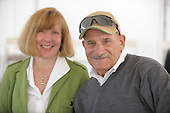 Barbara Taggart and Jim Vucci, owners of steeplechase claimer of the year, Eagle Beagle, 3/20/2010.
