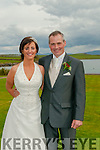 Mandy Sheehy, daughter of Bernadette and Dick, from Carrignavar, Co. Cork, and Micheal Leahy, son of Eileen and Pat, from Ballyferriter, who were married on the 30th of April 2015 at 1.30 at Ballyferriter church by fr. Eoin Kiely and fr. Seamus McKenna. Best Man was Padraig Leahy and Groomsmen were Seamus Leahy, Sean Leahy and Tadhg Leahy. Bridesmaids were Jane Sheehy, Niamh Leahy, Jessica McGrath and Niamh Sheehy. Pageboys were Micheal and Brendan Sheehy and flowergirl was Bríd Sheehy. The reception was held at the Skellig Hotel, Dingle. The couple will reside in Cork.