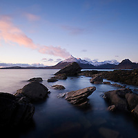 View from Elgol across Loch Scavaig towards Black Cuillin, isle of Skye, Scotland