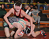 Dan Colondona of Connetquot, top, battles Kevin DePalma of Farmingdale at 113 pounds during the final round of the 2016 Ted Petersen Tournament at Island Trees High School on Saturday, Jan. 2, 2016. Colondona won the match.