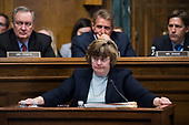UNITED STATES - SEPTEMBER 27: Rachel Mitchell, counsel for Senate Judiciary Committee Republicans, questions Dr. Christine Blasey Ford during the Senate Judiciary Committee hearing on the nomination of Brett M. Kavanaugh to be an associate justice of the Supreme Court of the United States, focusing on allegations of sexual assault by Kavanaugh against Christine Blasey Ford in the early 1980s. (Photo By Tom Williams/CQ Roll Call/POOL)