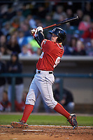 Great Lakes Loons outfielder Alex Verdugo (9) at bat during a game against the Dayton Dragons on May 21, 2015 at Fifth Third Field in Dayton, Ohio.  Great Lakes defeated Dayton 4-3.  (Mike Janes/Four Seam Images)