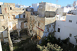 View over city centre internal courtyard with some building dereliction, Cadiz, Spain