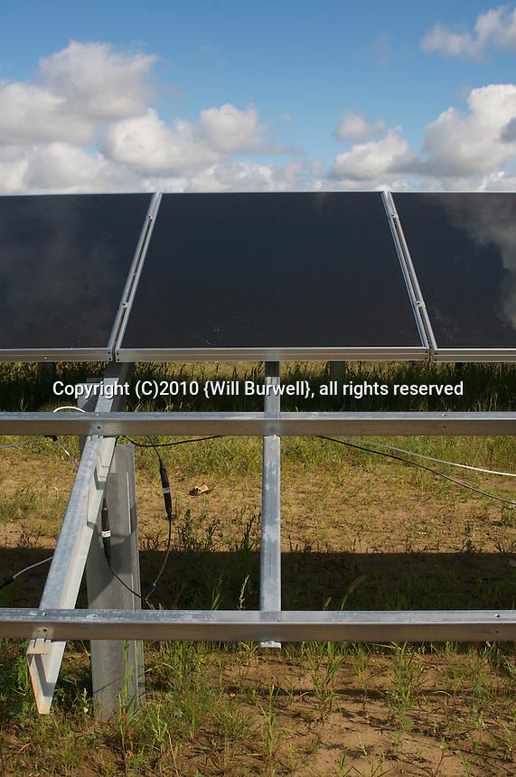 Detail of Solar panel installation