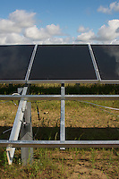 Detail of Solar panel installation